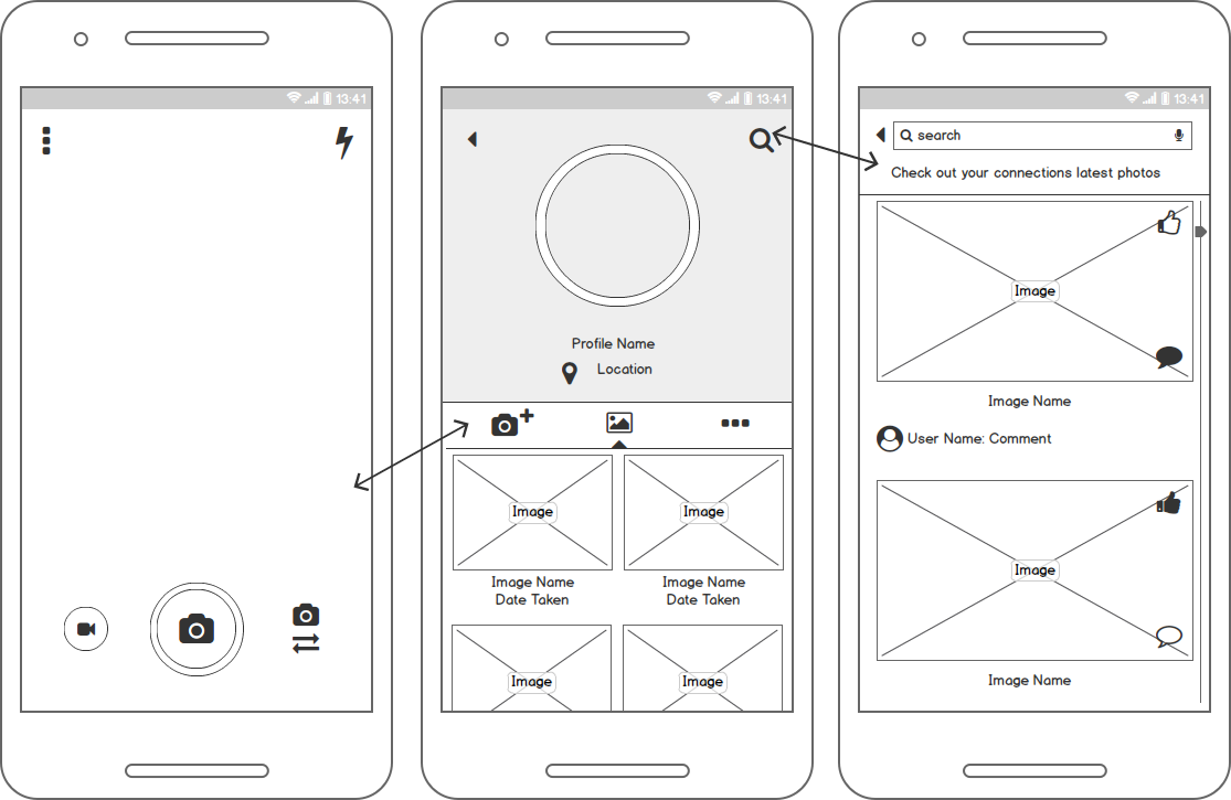 App Mockups and Wireframes
